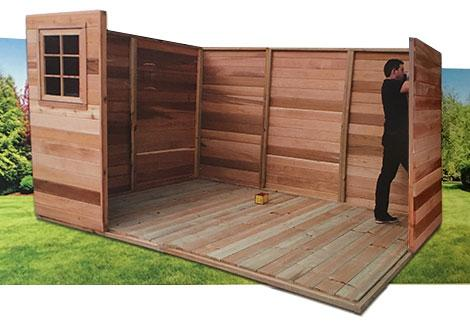 Cedar Shed Easy Assembly