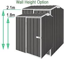 easyshed wall height options - Garden Sheds 3m X 4m