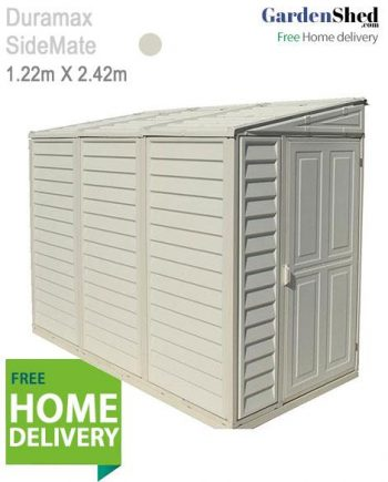 Duramax SideMate Vinyl Shed with free Home Delivery