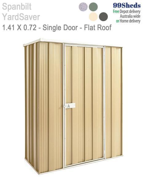 Yard Saver Slimline F42 1 41m X 0 72m Single Door