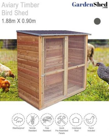 Aviary Timber Bird Chicken Coupe Shed