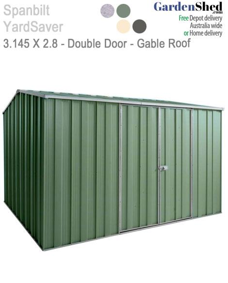 Spanblt Yardsaver Maxistore G98 3 145m X 2 8m Double Door