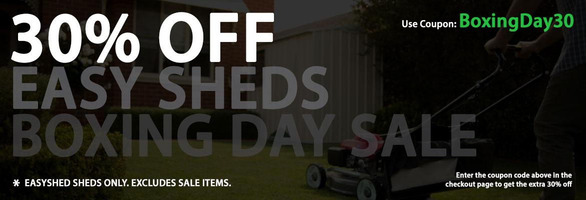 Boxing Day Promo - 30% OFF EasySheds