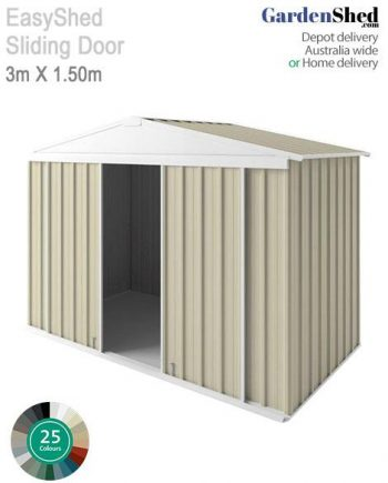 Double Sliding Door Garden Shed